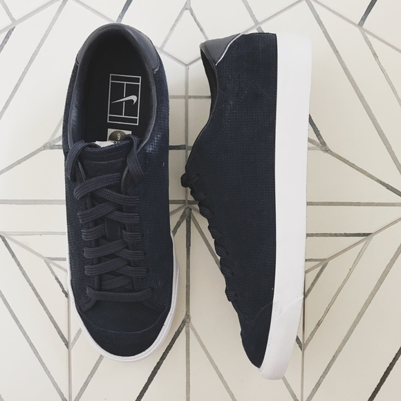NikeLab All Court 2 Perforated Suede Sneakers f30f3e1e2eb2