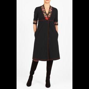 eshakti Dresses & Skirts - New Eshakti Boho Black Knit Midi Dress 20W