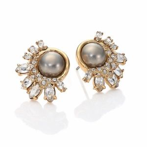 Alexis Bittar Jewelry - Anthropologie Alexis Bittar grey Pearl earrings