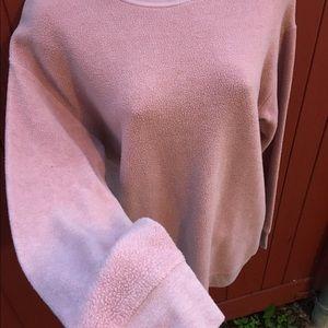 Topshop Sweaters - TOPSHOP fleece crew