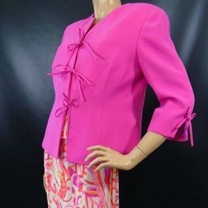 George Simonton Dresses & Skirts - 3 Piece Suit Set Pink Purple Jacket Skirt Blouse