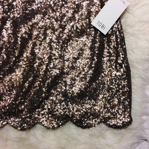 NWT Tobi Sequin Skirt