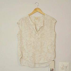 Anthropologie Cloth and Stone Marbled Ivory Blouse