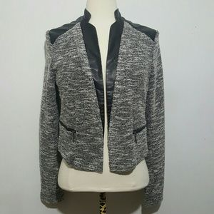 Mossimo Supply Co. Jackets & Blazers - Mossimo Cropped Faux Leather Blazer Medium