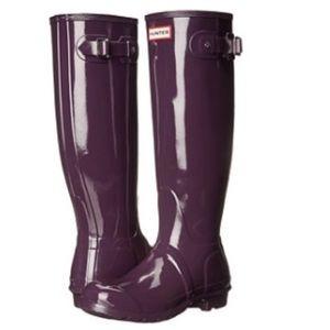 Brand new Hunter original gloss rain boots