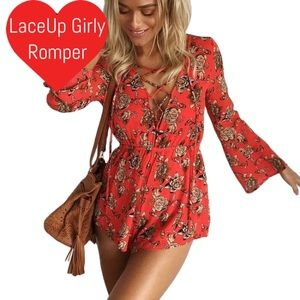Pants - Lace Up Girly Romper