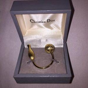 DIOR vintage gold-tone BOWLING PIN & BALL keyfob
