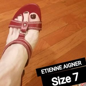 Etienne Aigner Shoes - Etienne Aigner Red Sandals!