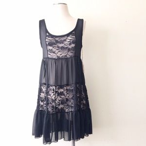 Dollhouse Dresses & Skirts - Sheer Lace Sleeveless Dress