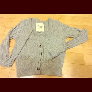 A&F cable knit cardigan