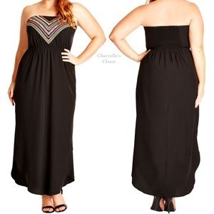 City Chic Dresses & Skirts - City Chic Embroidered Festival Maxi Dress Plus Sz