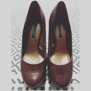 Zara Shoes - 📍SALE☘️ZARA Brown high heel shoes