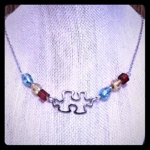 Jewelry - Puzzle Piece Color Necklace