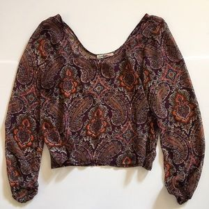 Love Squared Tops - Nordstrom Love Squared Paisley Blouse Size Medium