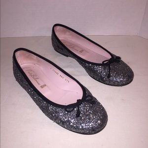 Pretty Ballerinas Shoes - Pretty Ballerinas silver glitter ballet flats 37.5