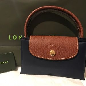 Longchamp Le Pliage Small Handbag Navy