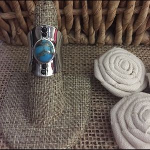 Jewelry - Mohave Blue Turquoise and Black Spinel Ring