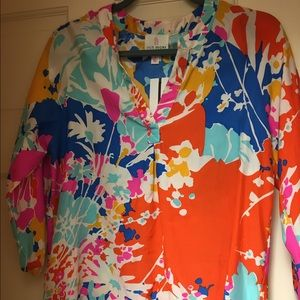 NWT Julie Brown floral silk shirt - size 2