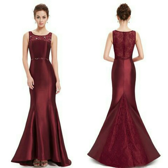 Dresses   Gorgeous Deep Red Fishtail Evening Gown   Poshmark