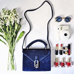 Urban Outfitters Velvet Blue Bag