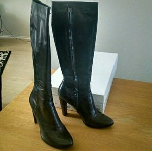 """Costume National Shoes - Costume National """"Sandy"""" Tall Boots in Grey (40)"""