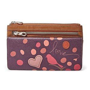 Relic Handbags - Love Heart Bird Wallet