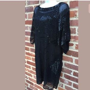 Aidan Mattox Cocktail Dress Black Sequin 6