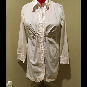 New York & Co Long white blouse.