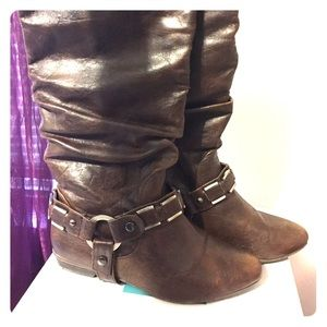 Call It Spring Shoes - Brown Riding boots