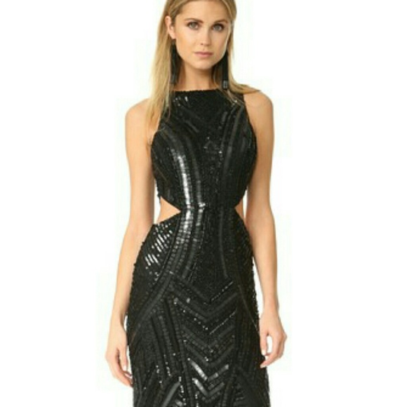 ab016a67e76 BLACK SEQUINED PARKER PAULINA DRESS