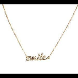 Kate Spade Gold SMILE Necklace