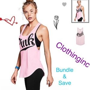 VS PINK Pink Exercise Tank Top Only