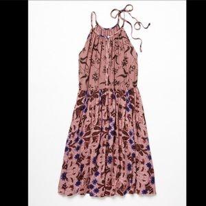 FREE PEOPLE printed floral slip dress