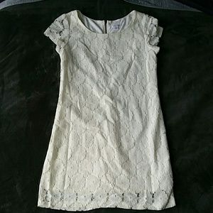 Xhilaration off white lace dress