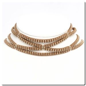 Jewelry - NWOT 4 Row Studded Choker Necklace