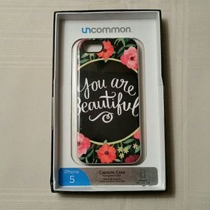 Uncommon Accessories - You Are Beautiful Flowers Black iPhone 5 Case