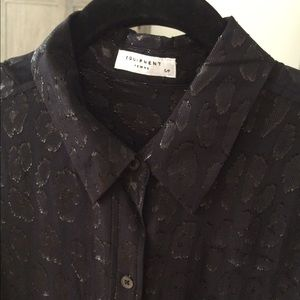 Silk Jacquard blouse