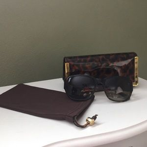 Tory Burch Polarized Tortoiseshell Sunglasses