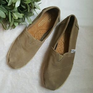 TOMS Shoes - Toms Classic Suede Espadrille Slip On Shoes
