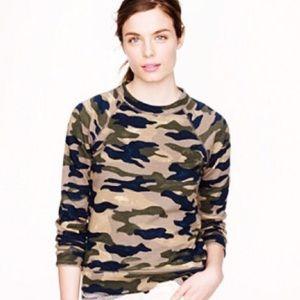 J. Crew Camo Sweatshirt