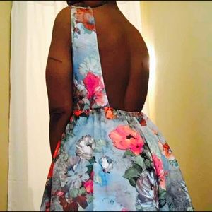Auditions Dresses & Skirts - SKY BLUE FLORAL PRINT DRESS
