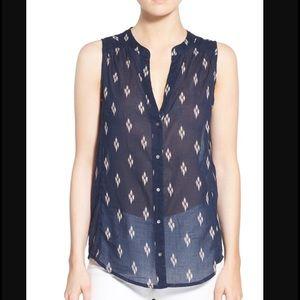 Paige Jeans Tops - Paige Bonnie Sleeveless Print Blouse