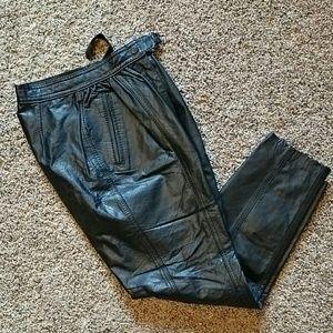 Pants - Black Leather Pants