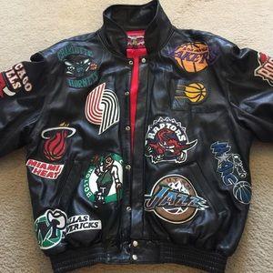 nba logos jacket