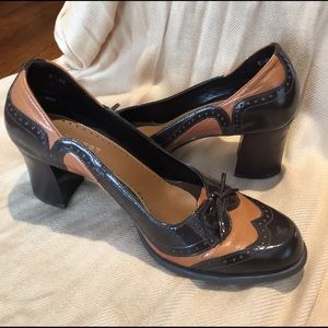 Leather Oxford Pumps