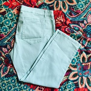 Pure Energy Denim - Mint Green Pants