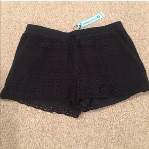 solitaire Pants - NWT Solitaire Lace Navy Shorts