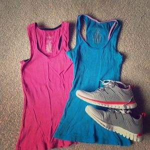 Two ribbed tank tops Sz XS and S
