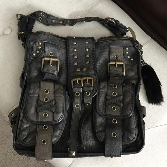 da4cbf10db0 Betsey Johnson Bags | Vintage Black Leather Studded Purse | Poshmark
