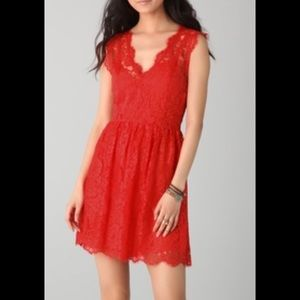 NWOT Madison Marcus Red Lace Dress